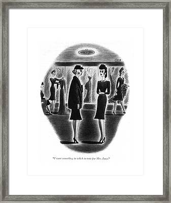 I Want Something In Which To Vote For Mrs. Luce Framed Print