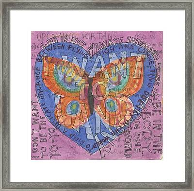 I Want To Land Framed Print by Jennifer Mazzucco