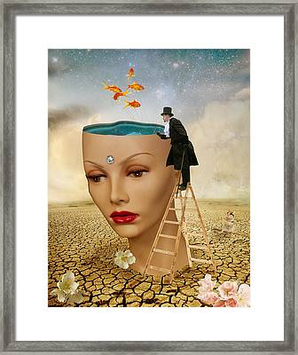 I Want To Look Inside Your Head Framed Print by Juli Scalzi