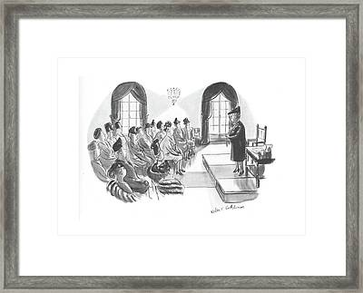 I Want To Tell You That The Finance Committee Framed Print by Helen E. Hokinson