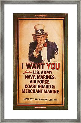 I Want You Framed Print