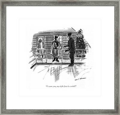 I Warn You, My Right Foot Is A Rebel Framed Print