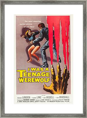 I Was A Teenage Werewolf Framed Print by MMG Archives