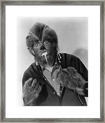 I Was A Teenage Werewolf  Framed Print