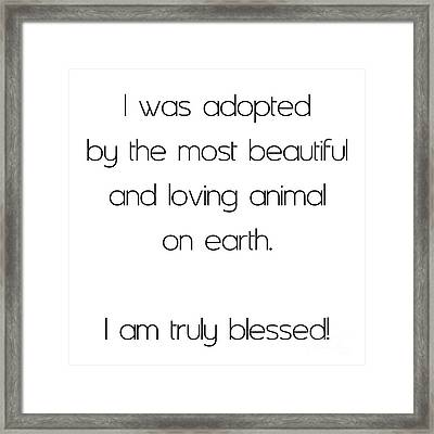 I Was Adopted 1 Square Framed Print