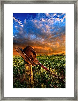 I Was Here Framed Print by Phil Koch