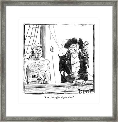 I Was In A Different Place Then Framed Print by Matthew Diffee
