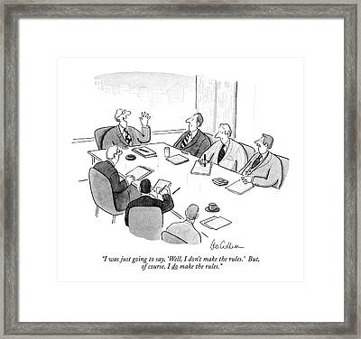 I Was Just Going To Say Framed Print by Leo Cullum