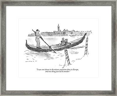 I Was Sent Down To The Minors Framed Print