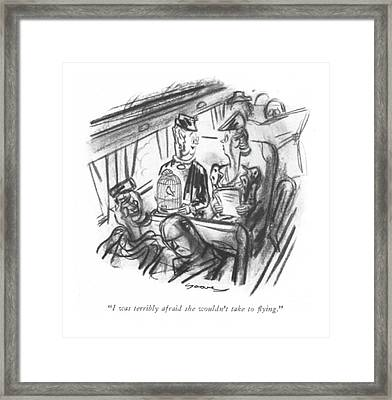 I Was Terribly Afraid She Wouldn't Take To ?ying Framed Print by Leonard Dove