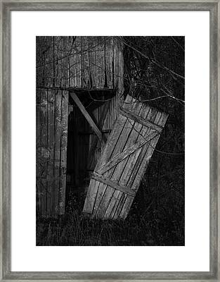 I Watched You Disappear - Bw Framed Print by Rebecca Sherman