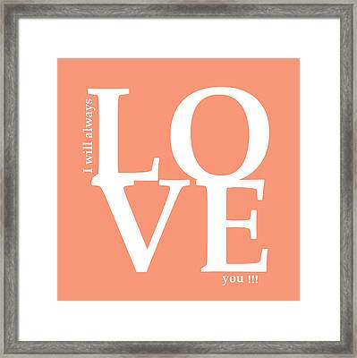 I Will Always Love You Framed Print by Mark Ashkenazi