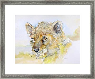 I Will Be The Lion King Framed Print by Janina  Suuronen