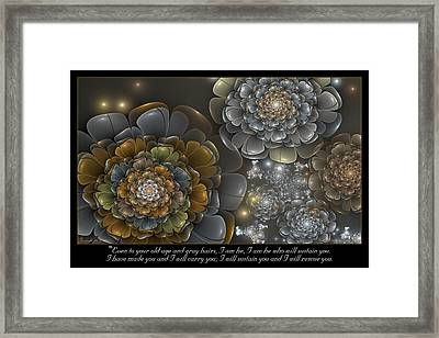 I Will Carry You Framed Print