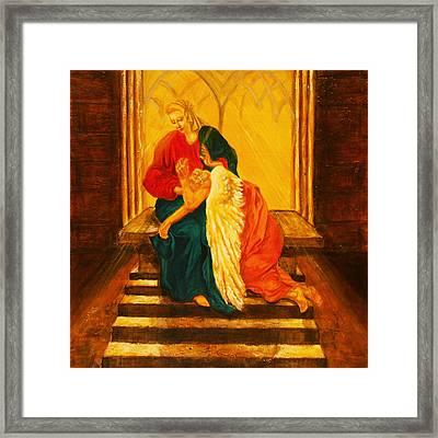 I Will Carry You Through Framed Print