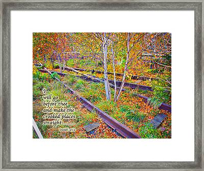 I Will Follow Lord Framed Print by Terry Wallace