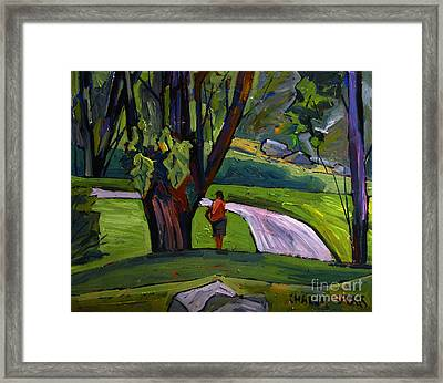 I Will Immortsalize You Golfer Framed Print by Charlie Spear