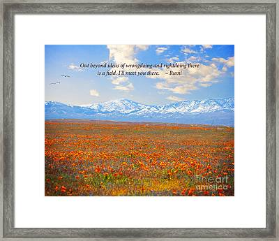 I Will Meet You There Framed Print