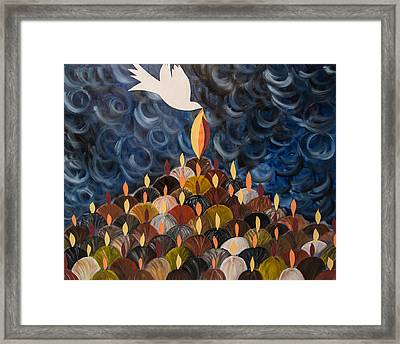 I Will Pour Out My Spirit On All My People Framed Print by Marianne Gonzales