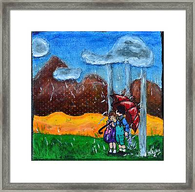 I Will Protect You Framed Print by Donna Blackhall
