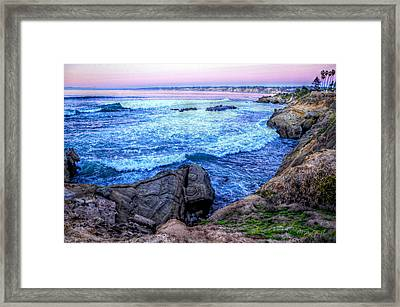 I Will Put You In A Cleft In The Rock Framed Print by Sharon Soberon