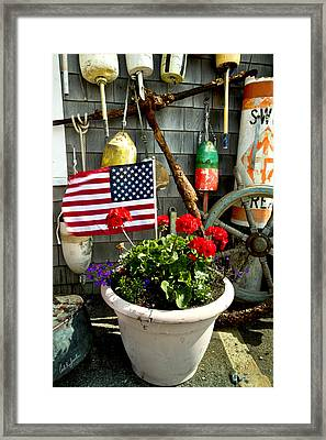 I Will Take One Flag With Everything Framed Print by Carl Jacobs