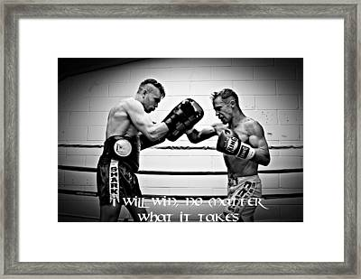 I Will Win Framed Print by Chris Black
