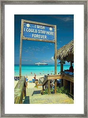I Wish I Could Stay Here Forever Framed Print by David Smith