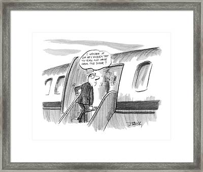 'i Wonder If I'm Key Enough Yet To Turn And Wave Framed Print by Donald Reilly