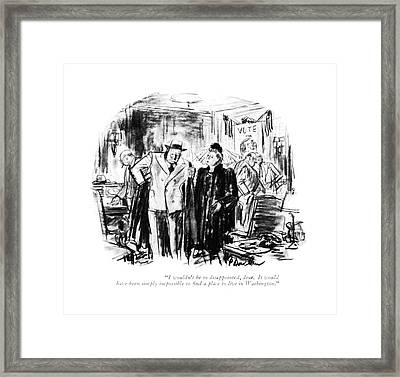 I Wouldn't Be So Disappointed Framed Print by Perry Barlow