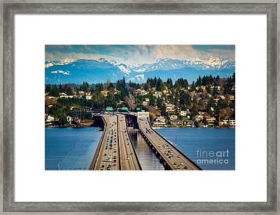 I90 Bridge Framed Print
