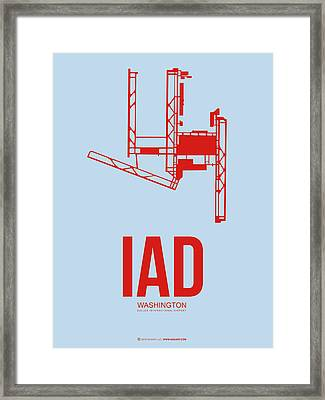 Iad Washington Airport Poster 2 Framed Print by Naxart Studio