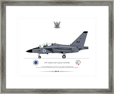 Framed Print featuring the drawing Iaf Aermacchi M346i by Amos Dor