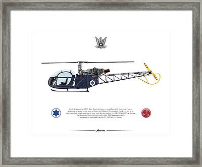 Framed Print featuring the drawing Iaf Allouette II by Amos Dor