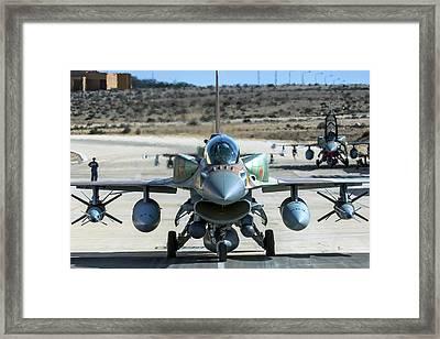 Iaf F-16i Fighter Jet Framed Print