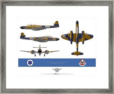 Iaf Gloster Meteor Nf 13 Nr 50 Framed Print