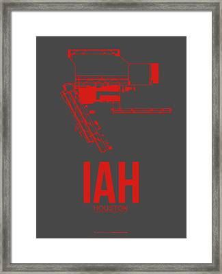 Iah Houston Airport Poster 1 Framed Print