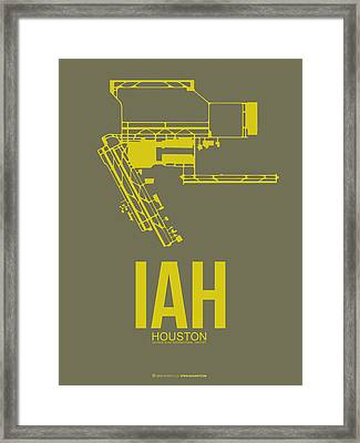 Iah Houston Airport Poster 2 Framed Print by Naxart Studio