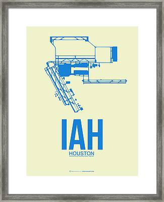 Iah Houston Airport Poster 3 Framed Print by Naxart Studio