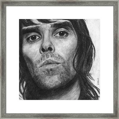 Ian Brown Pencil Drawing Framed Print
