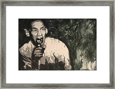 Ian Mackaye Of Minor Threat Framed Print by Dustin Spagnola