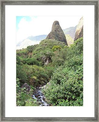 Framed Print featuring the photograph Iao Needle by Sheila Byers