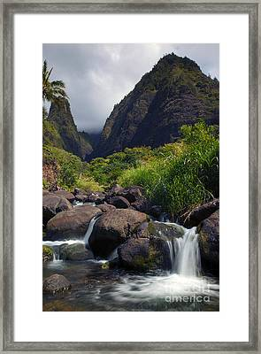 Iao  Storm Framed Print by Mike  Dawson