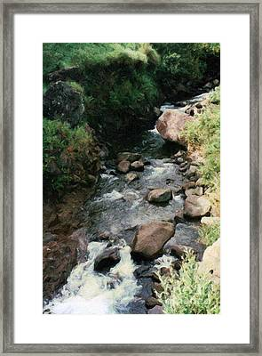 Rocky Stream In Iao Valley Framed Print