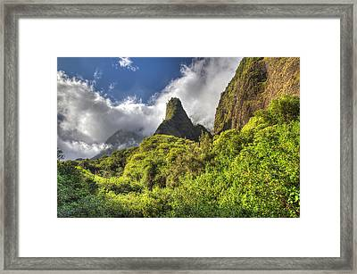 Iao Valley Needle Maui Hawaii Framed Print by Pierre Leclerc Photography