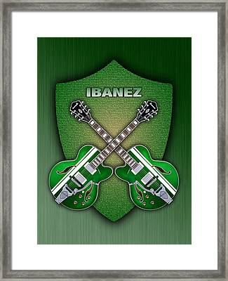 Ibanez Geen Shield Framed Print