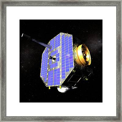 Ibex Spacecraft In Space Framed Print by Nasa/goddard Space Flight Center/conceptual Image Lab