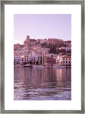 Ibiza Old Town In Early Morning Light Framed Print by Rosemary Calvert