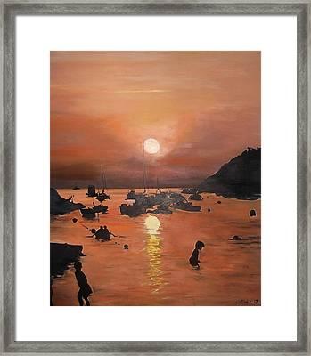 Ibiza Sunset Framed Print