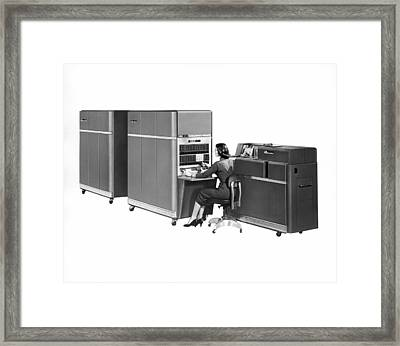 Ibm 650 Computer Framed Print by Underwood Archives